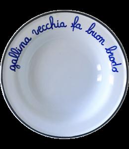 """PIATTO """"GALLINA VECCHIA FA BUO"""