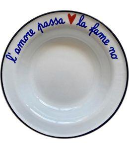 """PIATTO """"L'AMORE PASSA LA FAME"""