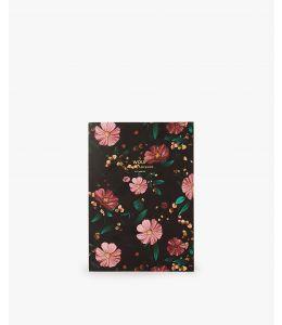 NOTEBOOK A5 BLACK FLOWERS
